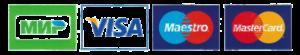 Принимаем к оплате карты Visa-MasterCard-Maestro-Mir
